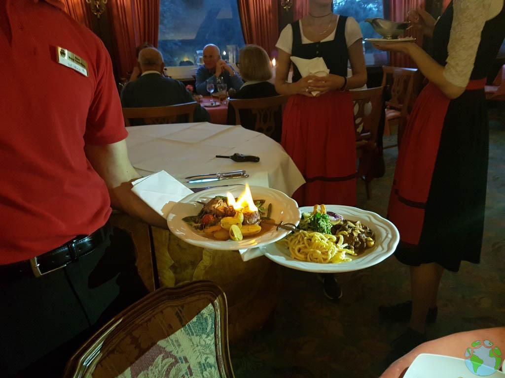 Comer en el Castillo de Rapunzel