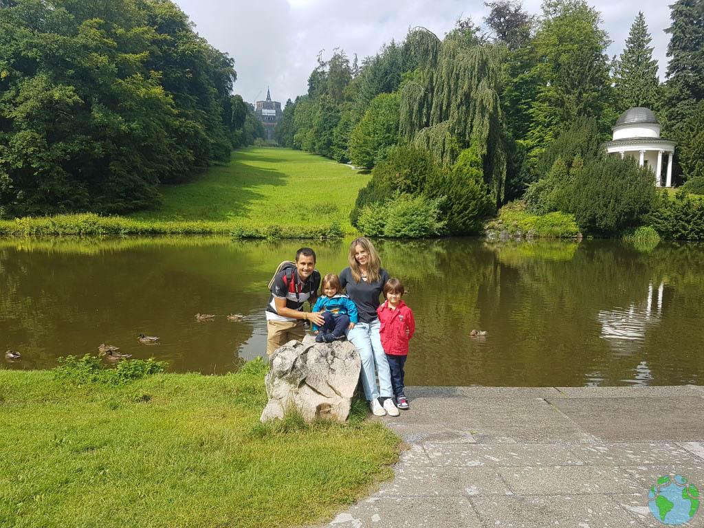 Wilhelmshöhe con niños