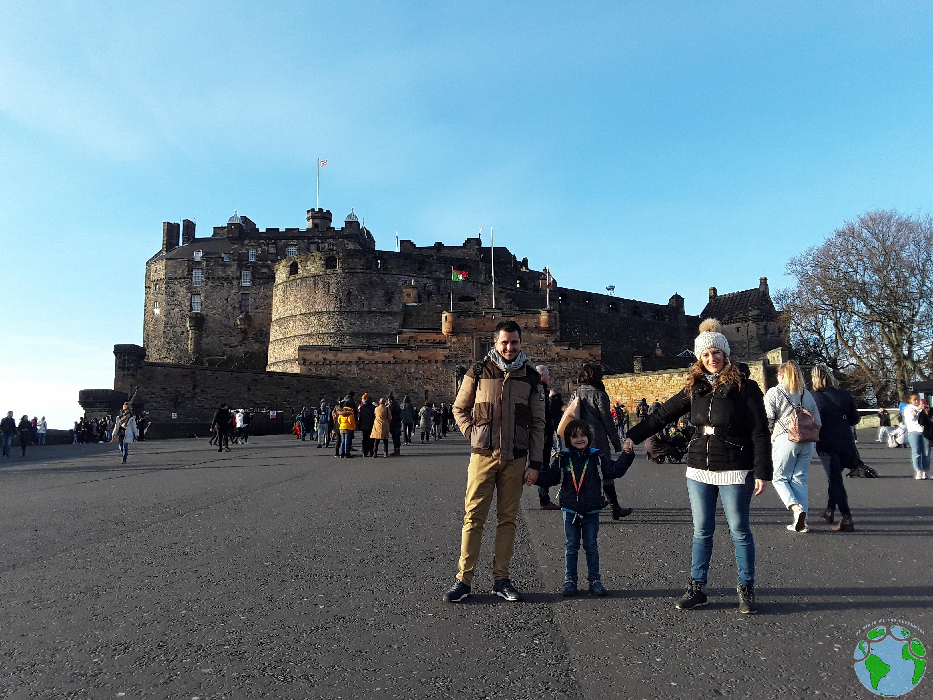 Castillo de Edimburgo en familia