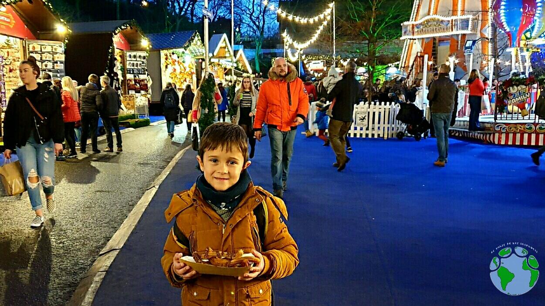 Churros en Mercadillo navidad con niños