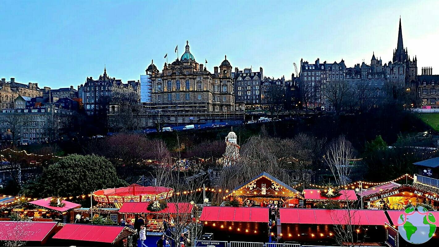 Mercadillo navidad Edimburgo con niños