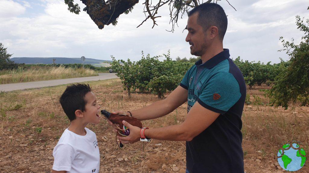 Beber mosto de uva en La Rioja