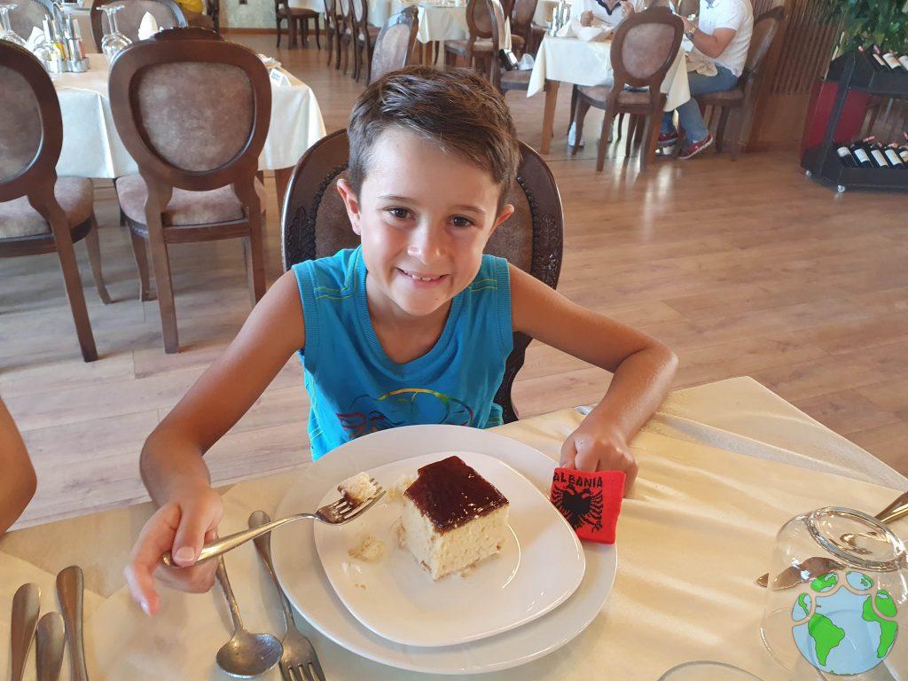Pastel típico de Albania